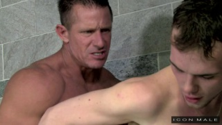 athlete fucked by his beefy coach in locker room