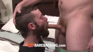 real-life partners and escorts bareback each other