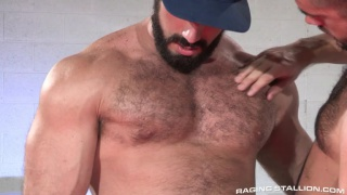 burly mechanic fucks a client in the garage