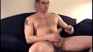 gianni strokes his long meaty cock
