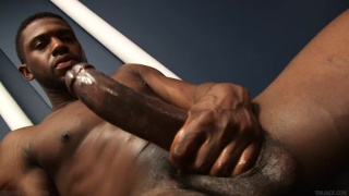 krave strokes his 11-inch cock