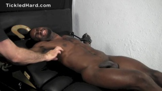 tyler is super ticklish, but his cock is hard