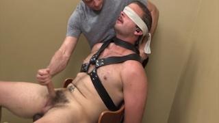 bearded stud Brady Hansen in his cock edging video