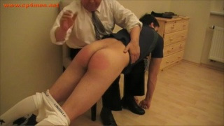 sports lads getting bare bum spankings
