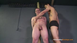 sub gets a beating for not keeping his dick hard