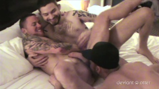 deviant otter & max cameron raw fucking in threeway