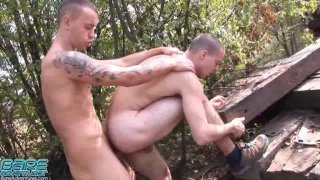 hikers bare fuck by railroad tracks