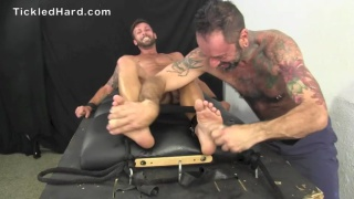 gymnast dean strapped down and tickled