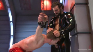 Jaxton works over hung stud in his dungeon