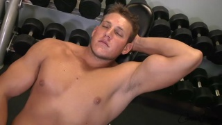 beefy blond hunk shane debuts at corbin fisher
