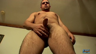 straight chunky stud strokes his boner