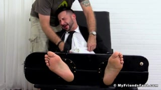 big and strong hunk brought to tears in tickling session