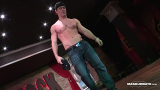 ricky celebrates his 20th maskurbate scene with a strip show