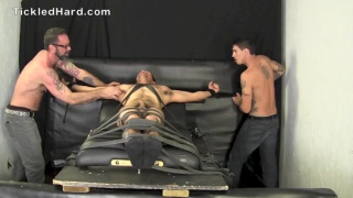 Straight hunk Victor can't stand being tickled