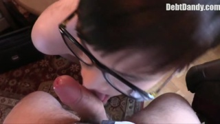 bespectacled czech lad sucks dick for cash