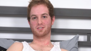 scruffy-faced ginger aubrey does first JO video