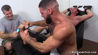 redhead connor maguire gets tickled