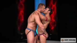 Horned-up Dorian Ferro gets his ass fucked by Austin Wolf