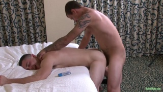 brad davis pounds buddy over the bed