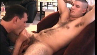 fuzzy stud gets his dick sucked