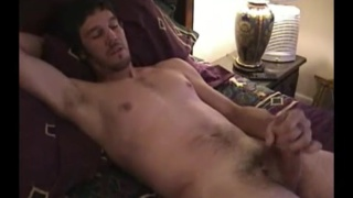 beefy handsome man jerking off