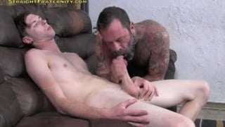 Clayton gets his huge cock sucked off