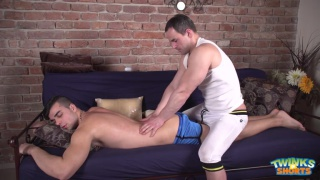 joel Vargas gets serviced during a massage