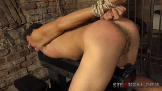 sexy guy gets his ass spanked