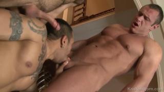 Jalil Jafar makes Lucio Saints suck his cock