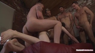 luke desmond pounds hot young arse at orgy