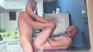 logan stevens and matt wood bare fuck in kitchen