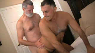 grey-bearded daddy fucks a hot piece of ass