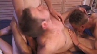 4 guys sucking each other's cocks