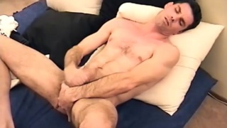 steve is blessed with a big uncut cock