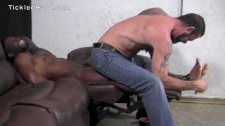 Big black stud Tyler gets his feet tickled