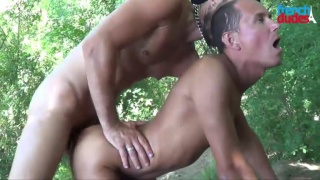 Kallam can barely fit this monster cock in his mouth