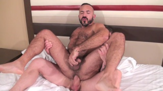 Alessio Romero bottoms bare for Rocco Steele
