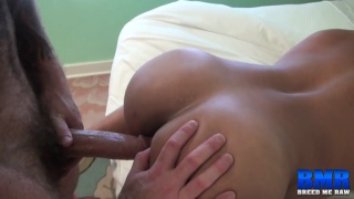hairy top fucks bottom with his 9-inch cock