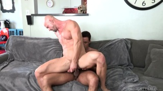 two horny dads fuck each other