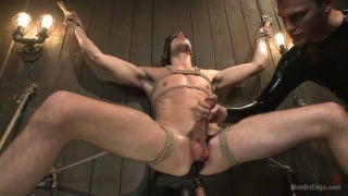 jack hunter blindfolded and worked over by two master