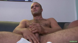 furry hottie dean jacks his dick