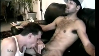 furry straight guy gets sucked and fingered