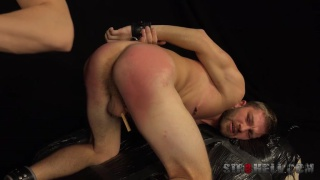 nikol gets his bare assed spanked bright red