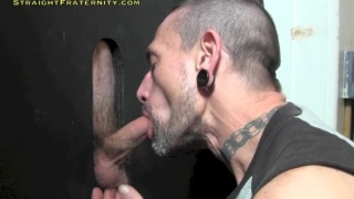 ripped guy seamus gets glory hole head