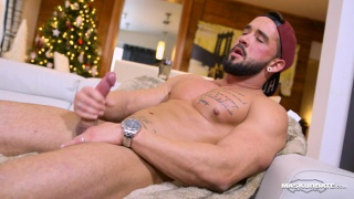 bearded hunk zack plays strip poker on Maskurbate