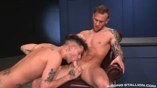 mickey taylor sucks damien michaels cock before getting fuck
