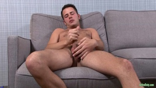 logan james strokes his fat dick