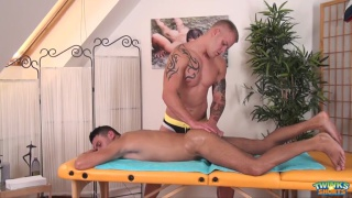 Paul Fresh gives Pyotr Tomek a deep massage and more