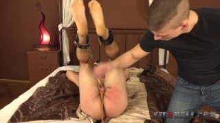 marek potocka is shackled to the bed and spanked