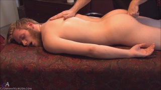 bearded guy hugh gets naked massage